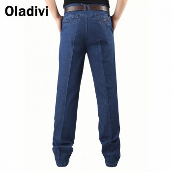 Men Thick Denim Straight Jeans