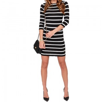 Long Sleeve Straight Plus Size Casual Dress